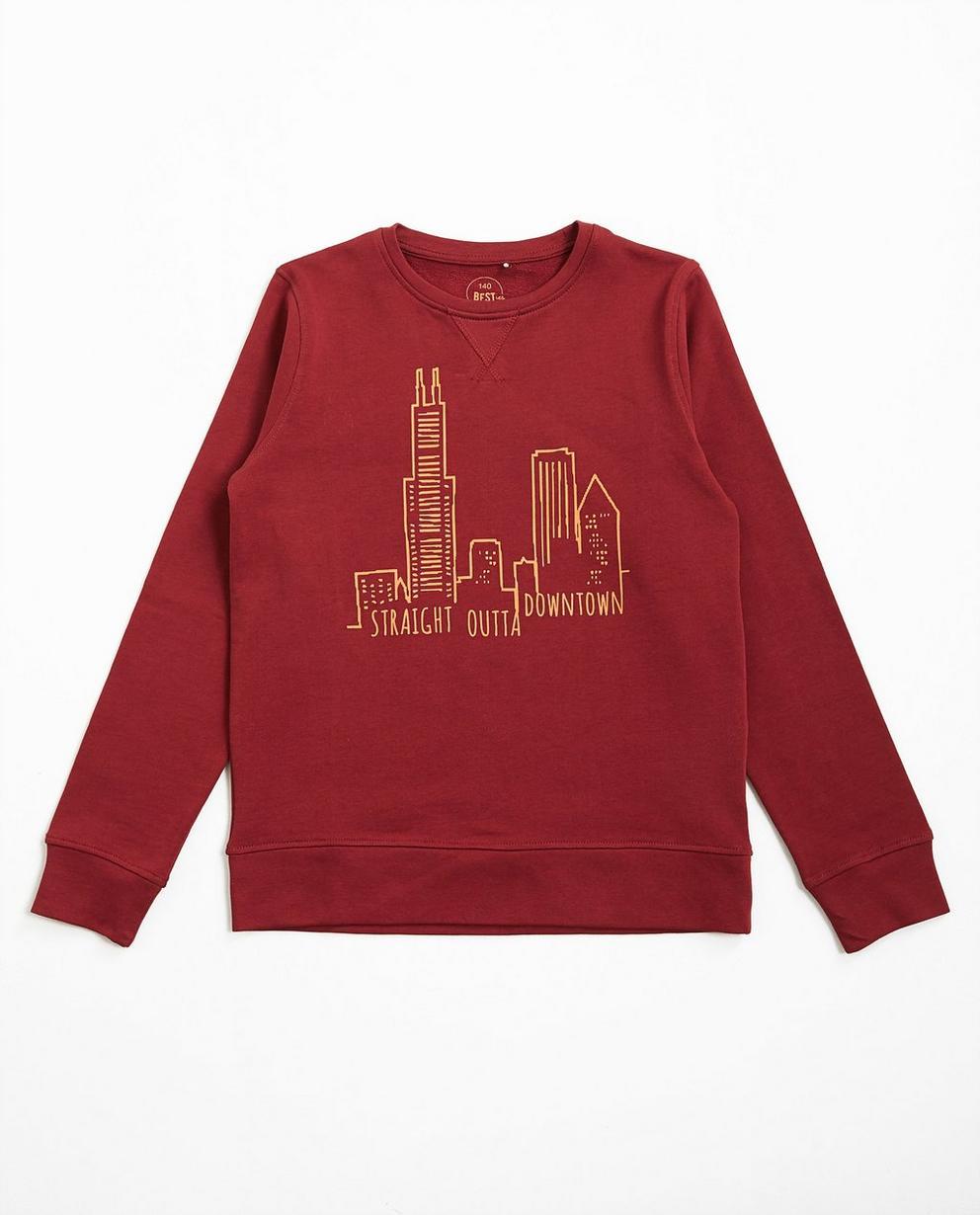 Sweatshirt mit Neon-Print - null - Best price